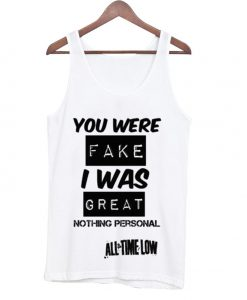 all time low quote Adult tank top