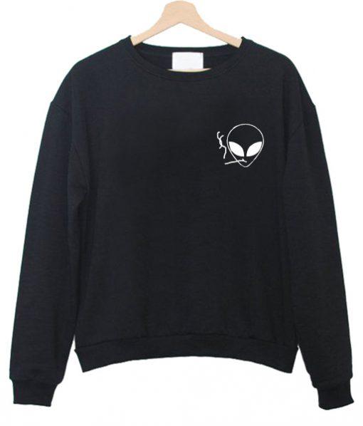alien smoking sweatshirt