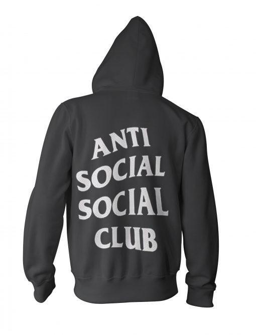 anti social social club black hoodie