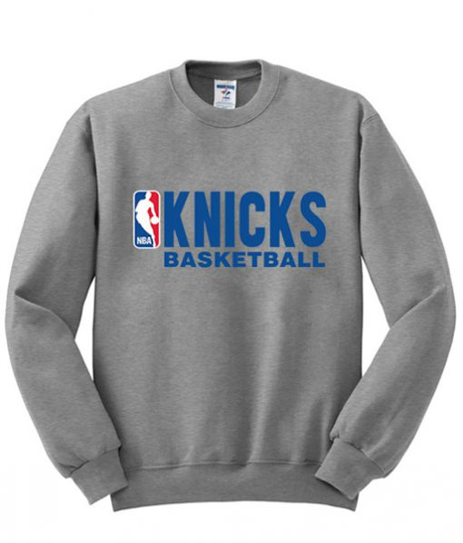 knicks basketball sweatshirt grey