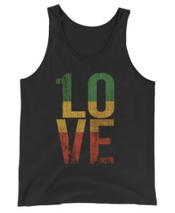 1 Love T Shirt For Reggae Music Fans Unisex Tank Top