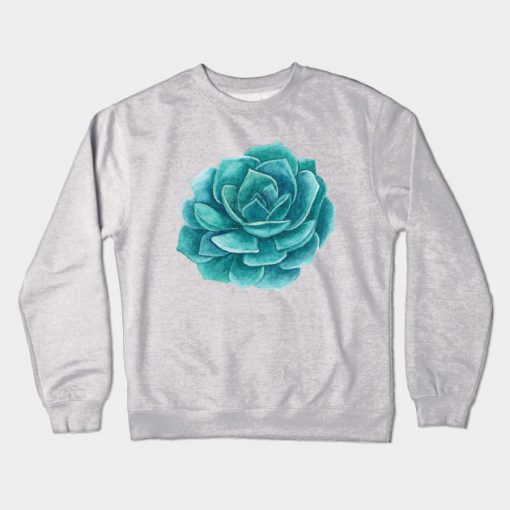 Abstract Cactus Design Crewneck Sweatshirt