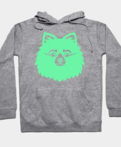Abstract Puppy Design Hoodie