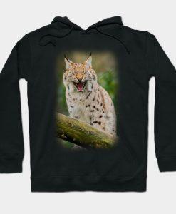 Yawning Lynx Hoodie