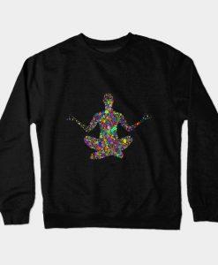 yoga design helty life design love this design brand new Crewneck Sweatshirt