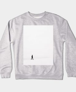 A Man Walk in Snow Field Crewneck Sweatshirt