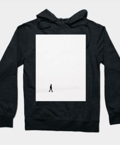 A Man Walk in Snow Field Hoodie
