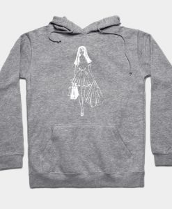 Abstract Woman Shopping Inspired Design Hoodie