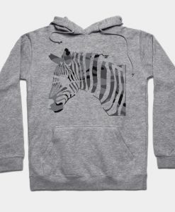 Abstract Zebra Design Hoodie