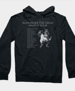 Alexander The Great World Tour Hellenic Ancient Greek History Hoodie