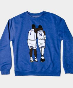 Zion Williamson x RJ Barrett - Duke Bluedevils NCAA College Basketball Crewneck Sweatshirt