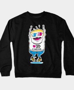 3D Cinema Movie TV Motion Crewneck Sweatshirt