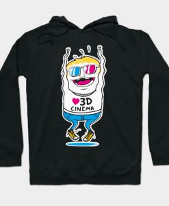 3D Cinema Movie TV Motion Hoodie