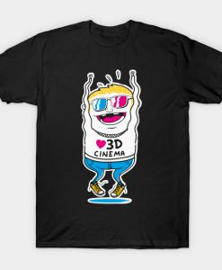 3D Cinema Movie TV Motion T-Shirt