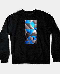 3D Polygonal Triangles Crewneck Sweatshirt
