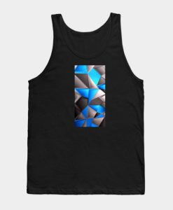 3D Polygonal Triangles Tank Top