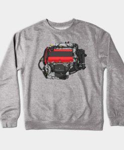 4G63 engine sticker Crewneck Sweatshirt