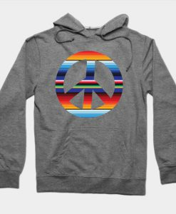 Abstract Peace Sign Design Hoodie