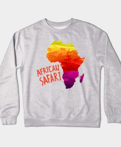 African Safari Map Crewneck Sweatshirt