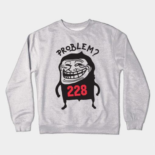 Troll Face Meme Crewneck Sweatshirt