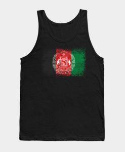 Afghanistan Distressed Flag Vintage Tank Top